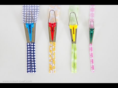 How To Make BIAS TAPE (single and double fold) and use the Bias Tape Maker Tool thumbnail