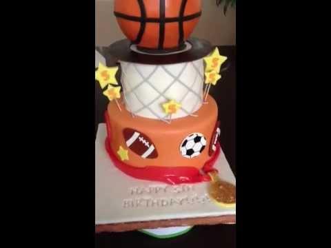 Sports Theme Birthday Cake Youtube