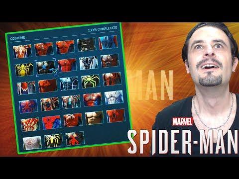 TUTTI I COSTUMI DI SPIDER-MAN - SPIDERMAN PS4 COSTUMES ITA ➤ PS4 Pro