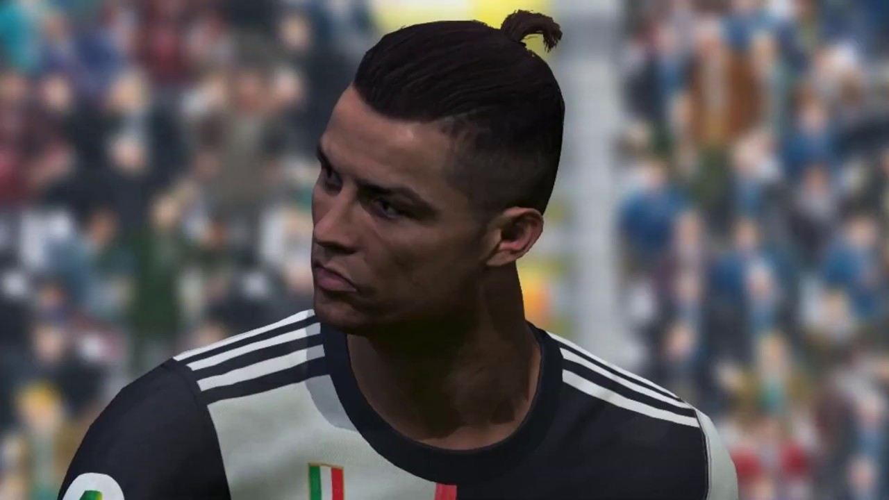 RONALDO'S NEW FACE WITH UPPER PONY TAIL HAIR FOR ALL PATCHES OF PES 2017  [Download & Install] - YouTube