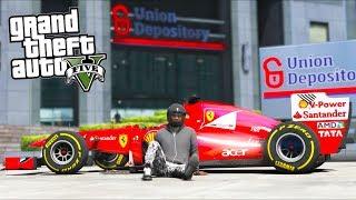 GTA 5 Mods - $15,000,000+ Depository Heist in F1 Car!! (Evade Gameplay)