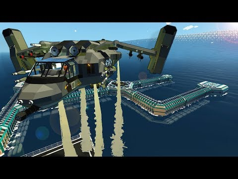 OUR FLOATING BASE GOT HIT BY A TSUNAMI! - Stormworks Multiplayer Survival