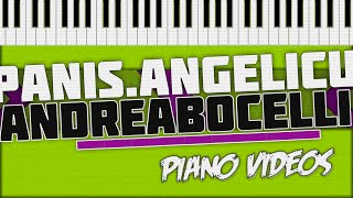 Panis Angelicus - Andrea Bocelli Piano Tutorial - Piano videos ツ