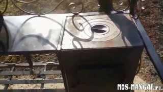 видео мангалы с крышей и печкой