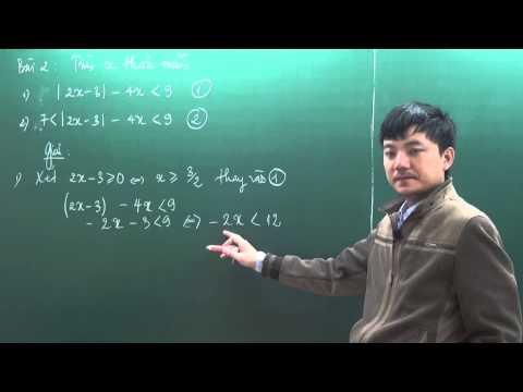 Toán nâng cao  7 - Trị Tuyệt Đối (P1) - thầy Tạ Anh Sơn [Hocmai.vn]