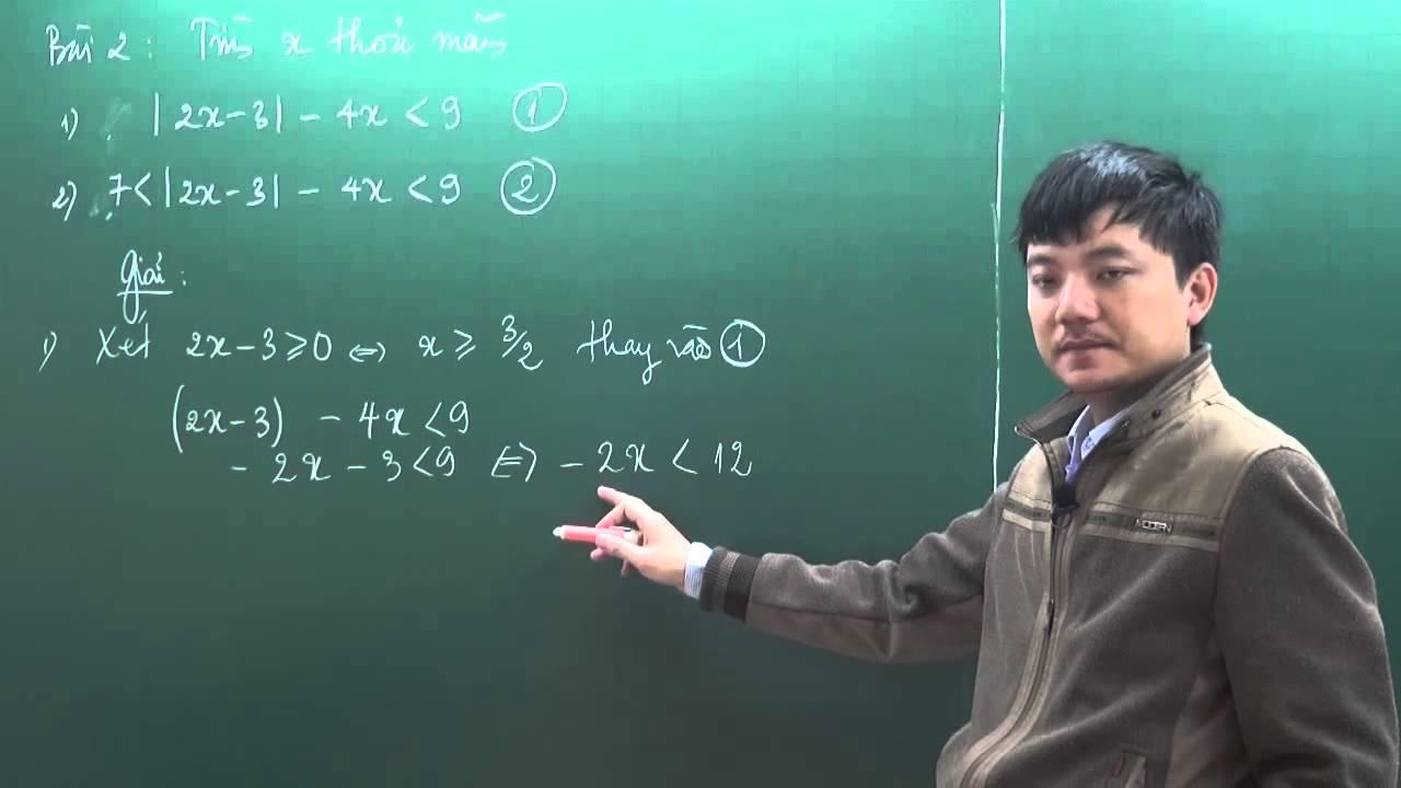 Toán nâng cao  7 – Trị Tuyệt Đối (P1) – thầy Tạ Anh Sơn [Hocmai.vn]