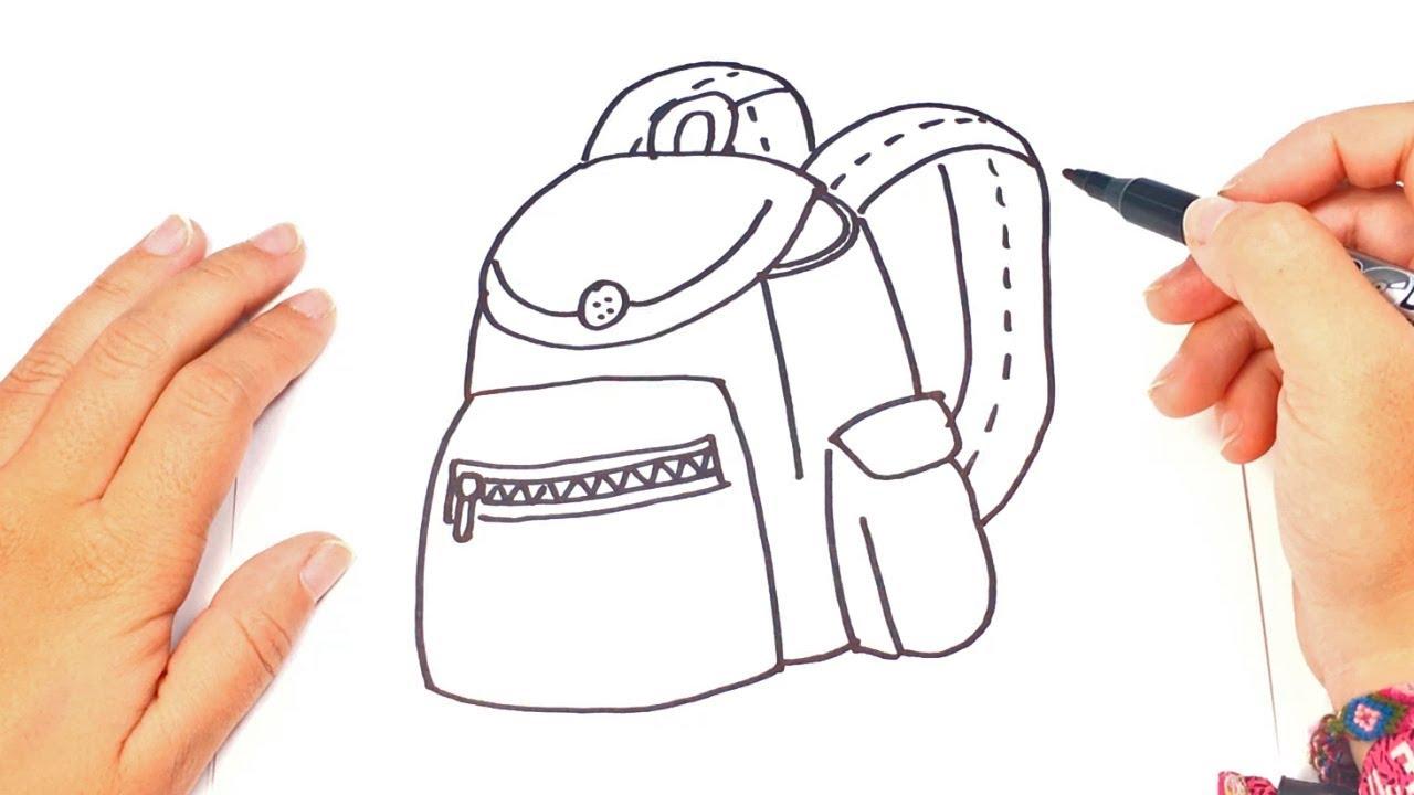 Como Dibujar Una Mochila O Maleta De Forma Fácil