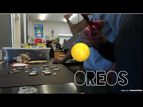 Doing A Moon Phases Poster With Oreos!!