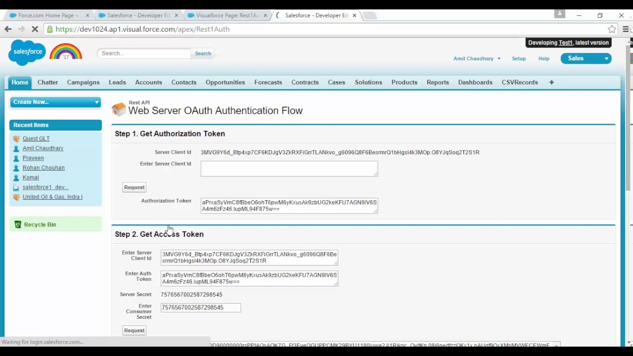 OAuth2 Salesforce