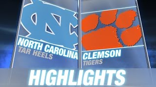North Carolina vs Clemson | 2014 ACC Football Highlights