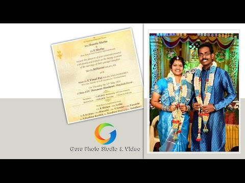 Vimal Raj weds Harini - Guru Photo Studio | LIVE