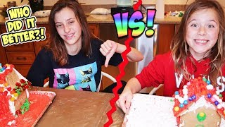 Sis VS. SIS Gingerbread house building. DO NOT ATTEMPT!!