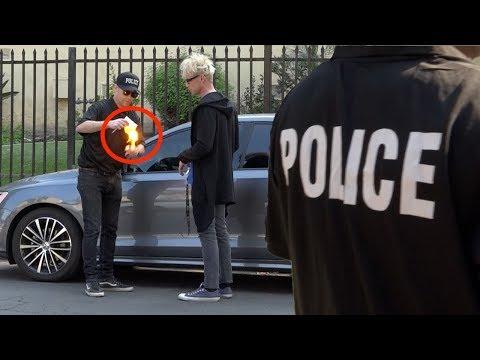 REVERSE POLICE PRANK  on MAGIC  MURRAY !!👮🏻♀️ -Julien Magic
