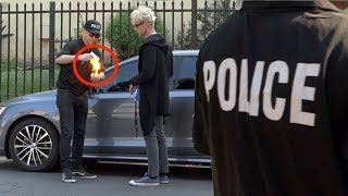 REVERSE POLICE PRANK  on MAGIC  MURRAY !!👮🏻‍♀️ -Julien Magic