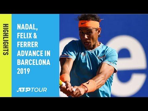 Highlights: Nadal, Felix, Ferrer Advance On Wednesday In Barcelona