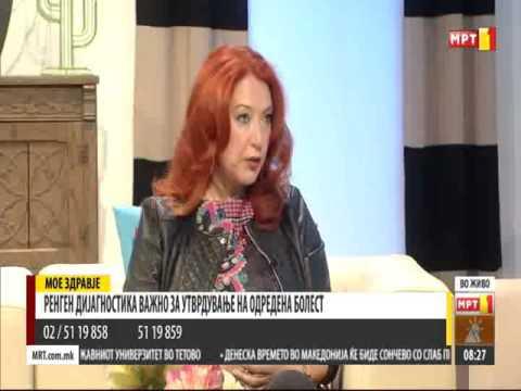 "Ass. D-r Biljana Bozinovska in the morning show on MTV, ""Macedonia morning"""