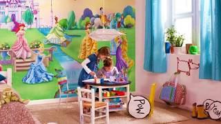 детские фотообои в интерьерах