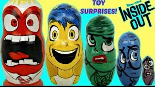 Disney Pixar INSIDE OUT Nesting Matryoshka Dolls, Stacking Cups Toy Surprise /Joy, Disgust / TUYC