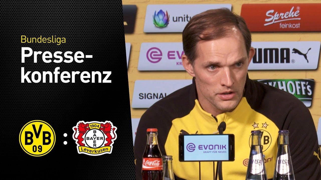 Pressekonferenz nach dem Spiel | BVB - Bayer Leverkusen 6:2
