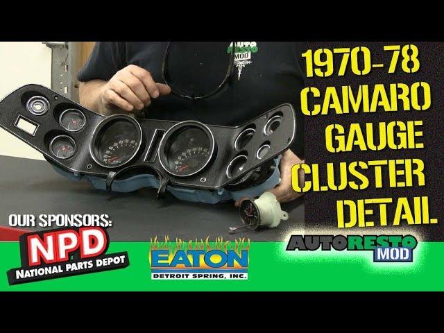1970 Camaro Guage Cluster Oil Pressure Gauge Episode 349 Autorestomod Youtube