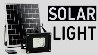 Remote control solar working garden solar light - floodlight with lux sensor