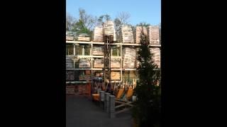 Home Depot forklift fail
