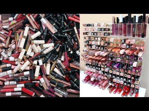 How To Organize 200+ Lipsticks | Makeup Storage Ideas thumbnail