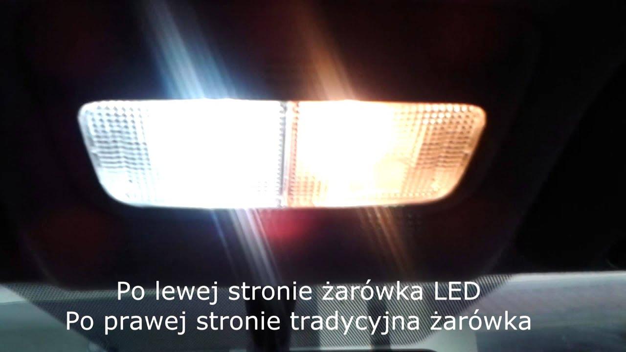 Wymiana żarówek W Lampkach Podsufitki W Samochodzie Na żarówki Led