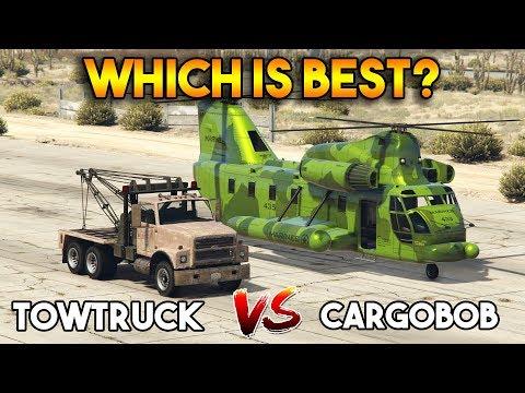 GTA 5 ONLINE : CARGOBOB VS TOWTRUCK (WHICH IS BEST?)