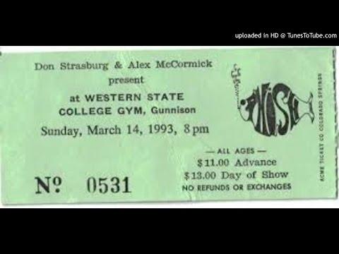 Phish 3/14/93 Western State College Gym Gunnison, CO