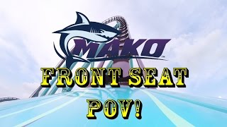 mako roller coaster front seat pov at seaworld orlando hd best quality