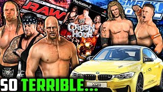 This WORST Ever WWE Game Has CARS!!! | WWE Crush Hour