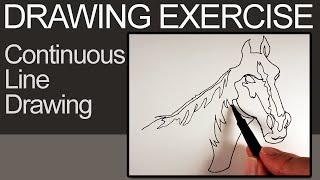 Continuous Line Drawing - Drawing Exercise