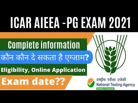 ICAR PG ENTRANCE EXAM 2021 Complete Info.   ICAR JRF 2021 Exam Date    ICAR Application Form 2021