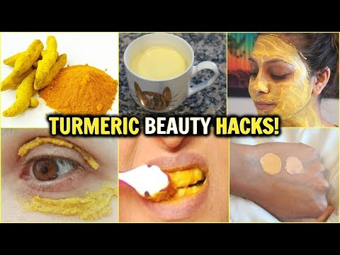 6 BEAUTY USES FOR TURMERIC│Glowing Skin, Whiten Teeth, Turmeric Tea, Tinted Foundation, Weight Loss