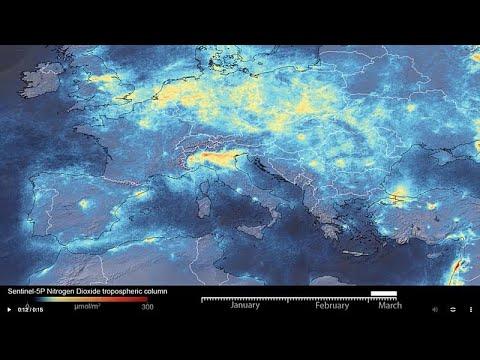 Uydu görüntüleri, koronavirüs nedeniyle İtalya'da hava kirliliğinin azaldığını gösteriyor