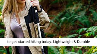 BAFX Products 1 Pair 2 Poles Adjustable Anti Shock Strong & Lightweight Aluminum Hiking Poles-REVIEW