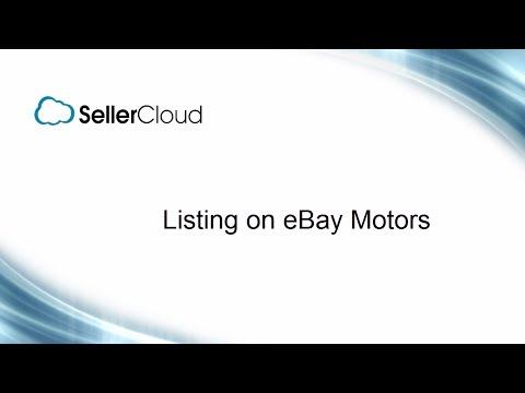 Listing On EBay Motors - SellerCloud - EBay Listing Management - 5.14