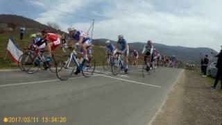 Велоспорт шоссе, Всероссийские соревнования, Крым 11.03.2017, финиш основной группы
