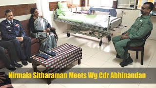 RM Nirmala Sitharaman Meets Indian Hero Wg Cdr Abhinandan Varthaman In Hospital | 1st Pictures