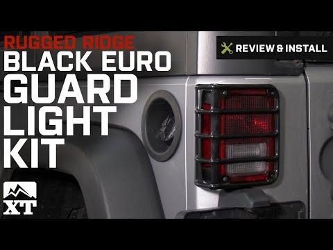 Jeep Wrangler Rugged Ridge Black Euro Guard Light Kit, 17 Piece (2007-2017 JK) Review & Install