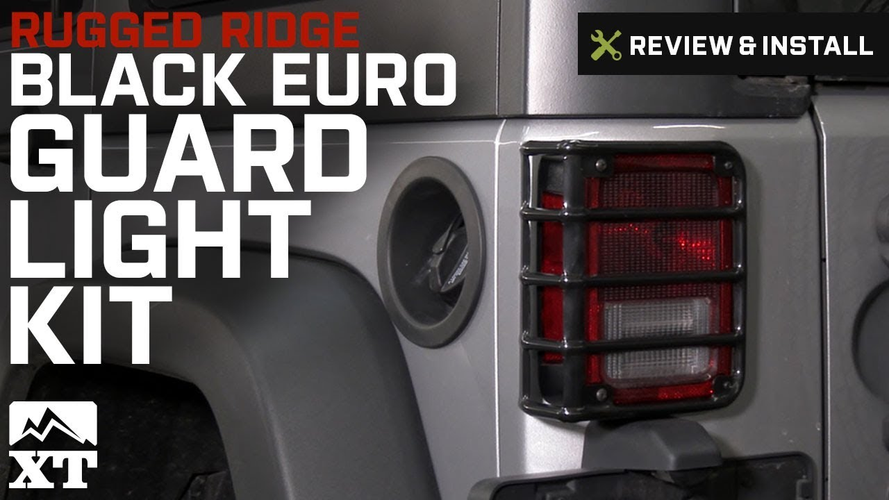 Full Euro Light Guard Set for Jeep Wrangler JK 07-18 12496.06 Rugged Ridge