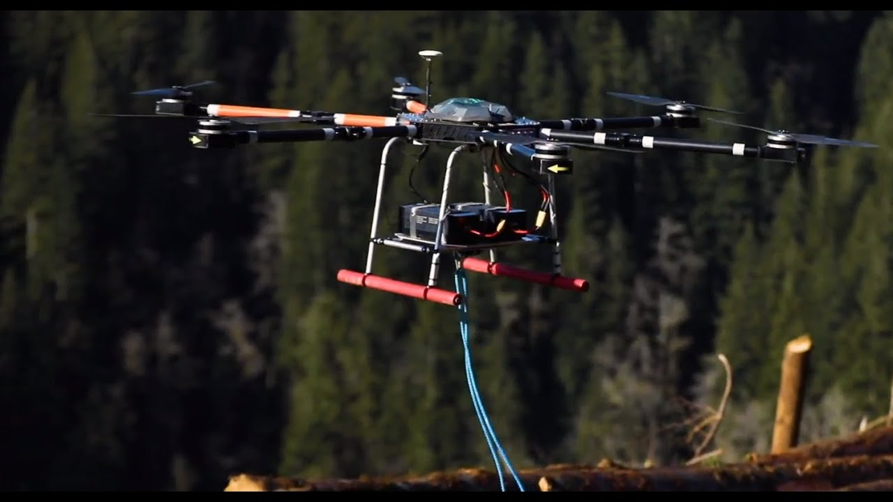 High Power Drones are a Safety Game-Changer in Tower Logging