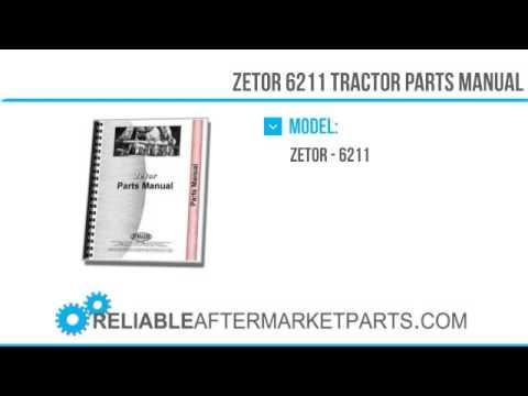 3190 New Zetor 6211 Tractor Parts Manual
