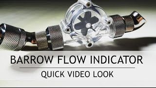 """Barrow G1/4"""" Thread White Flow Indicator Meter Water Cooling"""