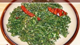 Stir Fry Collard Greens Recipe by Manjula, Vegetarian Gourmet Cooking