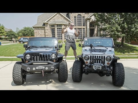 Driving my Dad's LS-SWAPPED JEEP WRANGLERS
