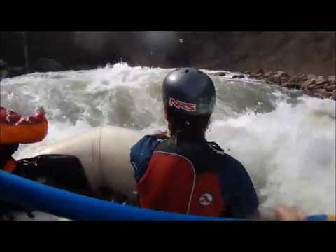 Cheat River Rafting- Punching Big Nasty in a Big Bucket Boat and Surfing It