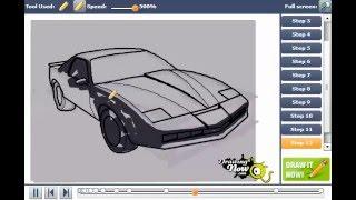 How to Draw a Pontiac Firebird Trans Am Car