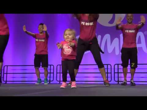 The Little Girl At  The Zumba Convention !!